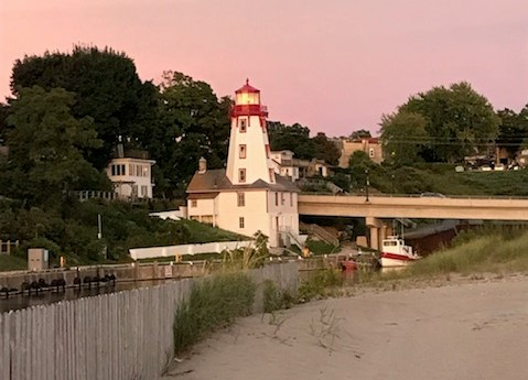 Kincardine Lighthouse where phantom pipe plays