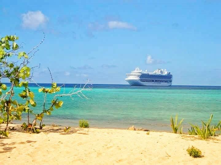 Princess ship on Princess Cay. The cruiseline's private island.