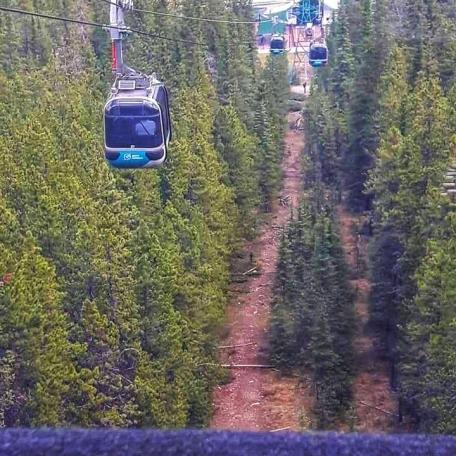 Coming Down on Banff Gondola