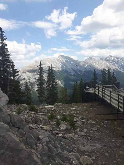 Stairs Leading up to Sulphur Mount Summit