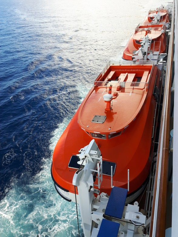 Safety Lifeboats onboard the Royal Princess