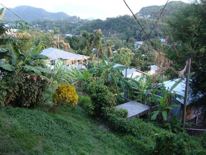Homes in St. Lucia are built mostly on hillside with very little planning and no municipal services