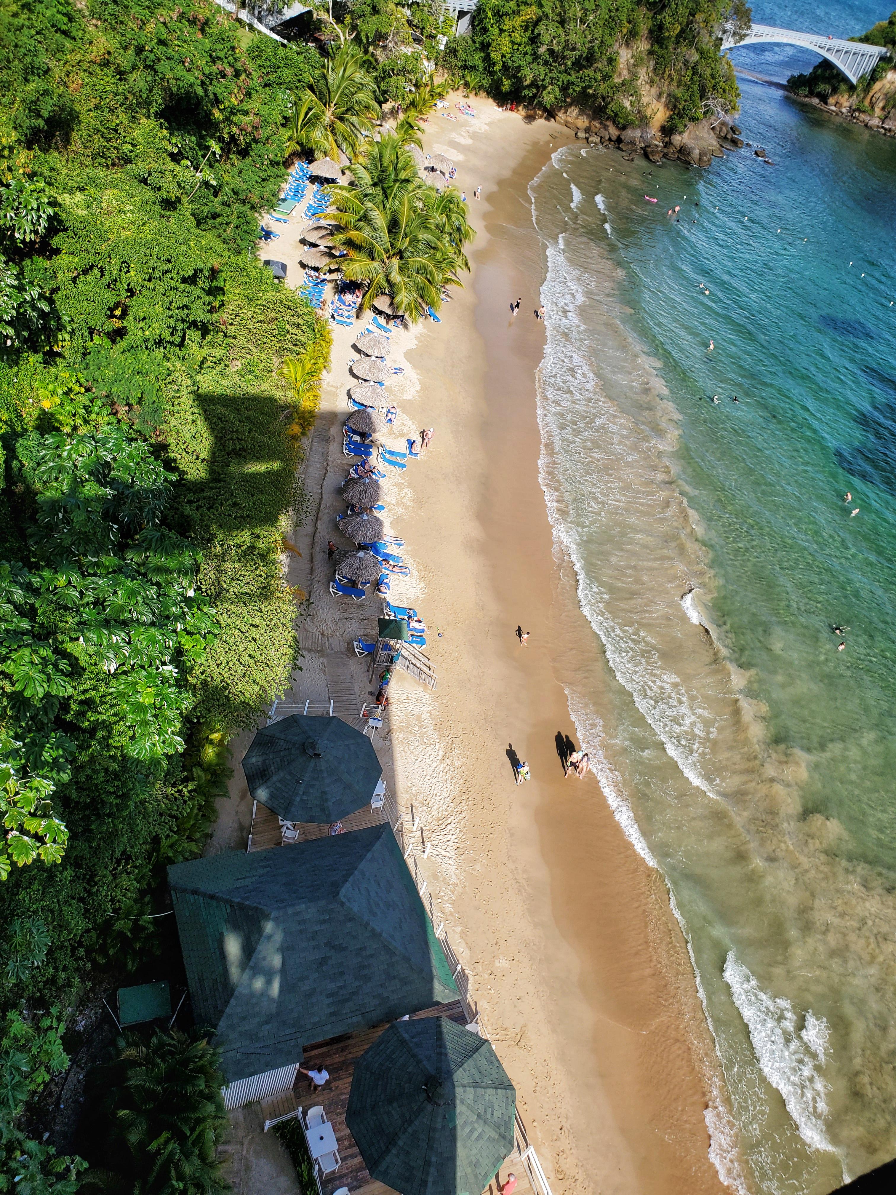 Beach - overhead view
