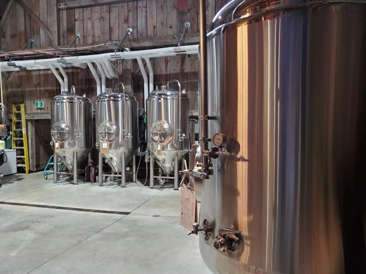 Beer Tanks at Charlotteville Brewing Company