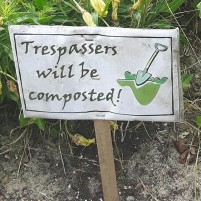Compost Sign on Lover's Lane, Kincardine, Ontario